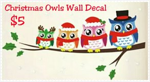 Christmas Owls Wall Decal in Fort Benning, Georgia