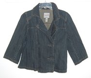 Heritage Double-Breasted Denim Jean jacket Womens Large in Yorkville, Illinois