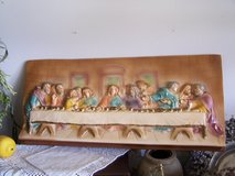 Antique Chalkware / Plaster Craft = The Lords Last Supper = Vintage Sculpture in Oswego, Illinois