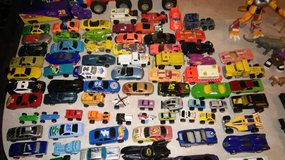 LARGE LOT (50+) PIECES, TOY CARS, ALL KINDS & SIZES. THERE ARE ALSO A FEW ACTION FIGURES, ETC. in Summerville, South Carolina