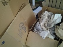 Packing paper and boxes in Lakenheath, UK