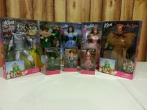 Wizard of Oz 8 piece Barbie collection. Sealed boxes, never opened. in Naperville, Illinois