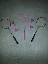 Badminton Rackets with birdies in Camp Lejeune, North Carolina
