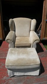 oversized wingback chair w/ottoman in Clarksville, Tennessee