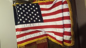 US flag with fringe in Fort Campbell, Kentucky