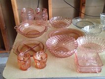 Various pink depression glass in Alamogordo, New Mexico