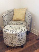 French script chair with ottoman in Temecula, California