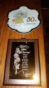 50 th Anniversary Plate and Plaque in Cleveland, Texas