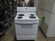 Hotpoint Electric Stove, color white in Elgin, Illinois