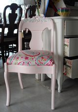Refinished and reupholstered chair in Fairfax, Virginia