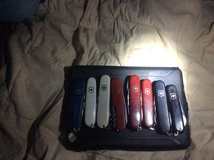 Swiss military Victronix knife collection in Fort Polk, Louisiana