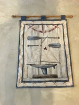 Wall hanging sailboat decor in Chicago, Illinois