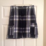 aeropostale blue plaid shorts cargo in Fort Riley, Kansas