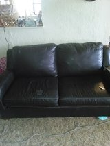 Dark brown pull out bed couch in Lawton, Oklahoma