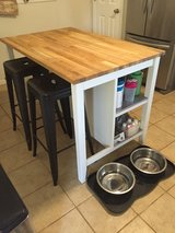 Butcher Block Kitchen Island - IKEA STENSTORP White in Fort Leavenworth, Kansas