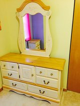 girls bedroom dresser with mirror and nightstand in Plainfield, Illinois