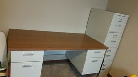 Office desk and file cabinet in Oswego, Illinois