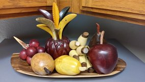 Real wood, hand made fruit platter in Vacaville, California