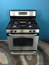 Stainless Steel GE Gas Stove in Tomball, Texas