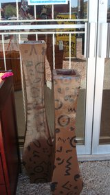 two tower ceramic vase/ dark brown color in Fort Bliss, Texas