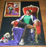**SIGNED** TOBUSCUS King Buscus Lord of Ego Poster YouTube Sensation 18X24 in Kingwood, Texas