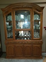 Gorgeous Carved Wood Oak China Hutch in Fairfield, California