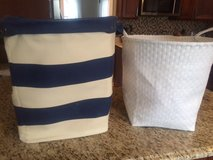 Pottery Barn Kids Canvas Basket/Land of Nod Strapping Floor Bin in Glendale Heights, Illinois