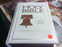 Holy Bible  bicentennial 1776 -1976 with Liberty Bell in 29 Palms, California