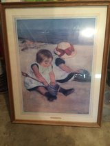 Children on the Beach, Framed & glass top in Baytown, Texas