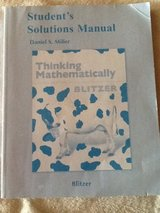 Students Solutions Manual in Baumholder, GE