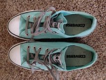 Ladies Teal Converse shoes NERVER WORN in Bolingbrook, Illinois