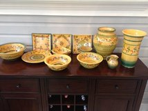 A Collection of Terre e Provence Glazed Pottery - 12 Pieces, Made in France in Plainfield, Illinois
