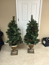 2 - 4' tall holiday trees - great for porch in Oswego, Illinois