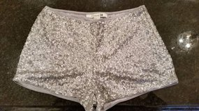 Shorts - Silver Sequin - Forever 21 - Size S in Orland Park, Illinois