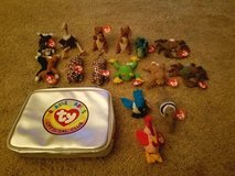 Assorted Mini Beanie Baby Set with Bag in Camp Pendleton, California