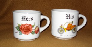 'His' & 'Hers' Coffee Cups (white) in Alamogordo, New Mexico