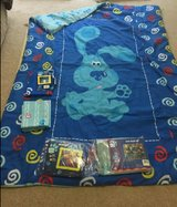 Blue clue comforter set with window valance & panel , musical book & brand new beach towel in Houston, Texas