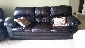 Leather couch in Fairfield, California