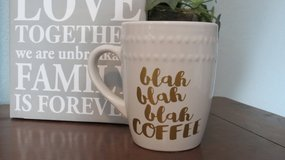 blah blah blah Coffee 12 oz coffee mug in Houston, Texas