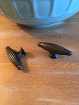 New Cabinet Hardware/Knobs - Ribbed, Rubbed Bronze in Conroe, Texas