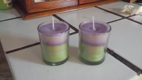 Homemade twin candles in Beaufort, South Carolina