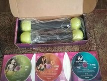 Exhilarate Body Shaping System 3 DVDS and Zumba Toning Sticks in Houston, Texas