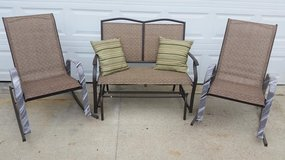 New / Iron 3 Piece Glider Bench & Rocking Chairs Patio Set in Fort Campbell, Kentucky
