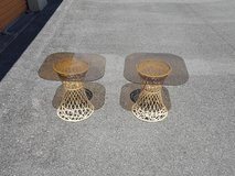 2 glass end tables in Camp Lejeune, North Carolina