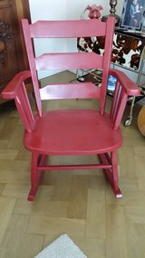 Rocker and Chair. Red color in Wiesbaden, GE