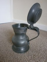 English Pewter Lidded Tankard in Lakenheath, UK