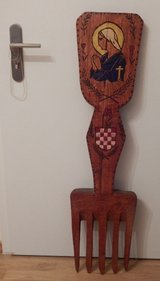 RARE Croatian Wood Decoration in Stuttgart, GE