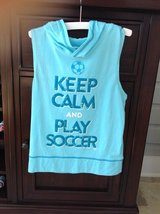 """Girls """"Keep Calm and Play Soccer"""" Shirt from Justice Size 8-10 in Naperville, Illinois"""