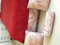 Bed skirt, red quilt and three pillows - red toile pattern...... in Sugar Grove, Illinois