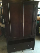 Armoire TV Stand with Silver Handles Espresso Finish in Fairfield, California